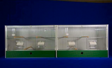 JH DOUBLE BREEDING CAGE -  FINCH / CANARY ~ 124X40X40